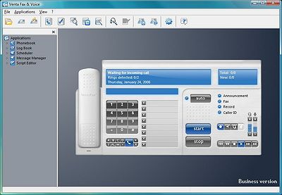 VentaFax Business screenshot: fax software, fax program, phone software, color fax, answering